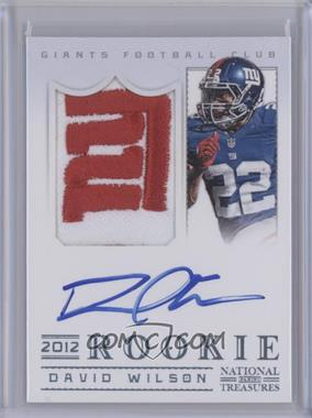 2012 Panini National Treasures - Rookie Signature Materials - Platinum #314 - David Wilson /5