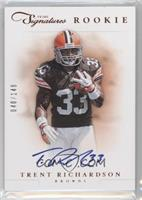 RPS Rookie Prime Signatures - Trent Richardson #/149