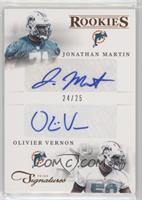 Combo Rookie Signatures - Jonathan Martin, Olivier Vernon #/25
