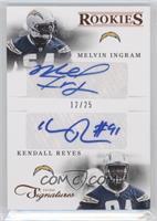 Combo Rookie Signatures - Melvin Ingram, Kendall Reyes /25