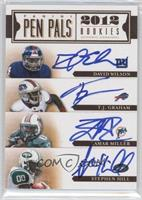 David Wilson, T.J. Graham, Lamar Miller, Stephen Hill