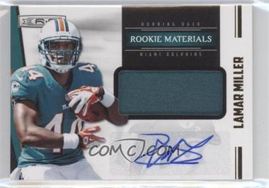 2012 Panini Rookies & Stars - [Base] - Rookie Materials Prime Signatures [Autographed] #237 - Lamar Miller /49