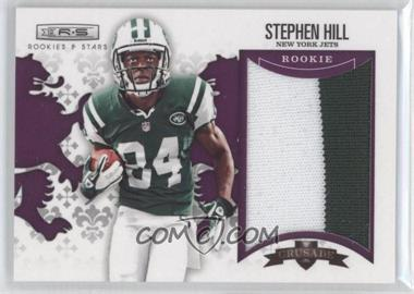2012 Panini Rookies & Stars - Rookie Crusade - Purple Materials Prime #18 - Stephen Hill /10