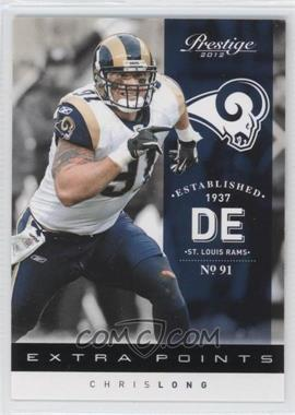 2012 Playoff Prestige - [Base] - Extra Points Black #185 - Chris Long /10