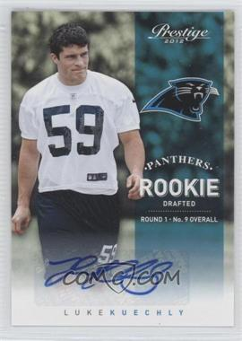 2012 Playoff Prestige - [Base] - Rookie Signatures [Autographed] #214 - Luke Kuechly /799