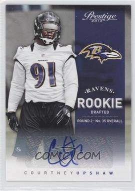 2012 Playoff Prestige - [Base] - Rookie Signatures [Autographed] #219 - Courtney Upshaw /599