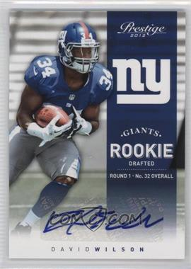 2012 Playoff Prestige - [Base] - Rookie Signatures [Autographed] #244 - David Wilson /499