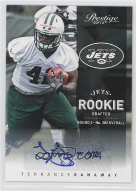 2012 Playoff Prestige - [Base] - Rookie Signatures [Autographed] #257 - Terrance Ganaway /645