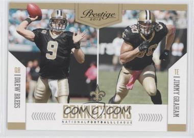 2012 Playoff Prestige - Connections #4 - Drew Brees, Jimmy Graham