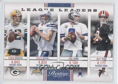 2012 Playoff Prestige - League Leaders #17 - Matt Ryan, Philip Rivers, Aaron Rodgers, Tony Romo