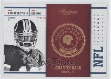 2012 Playoff Prestige - NFL Passport #9 - Robert Griffin III