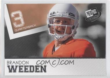 2012 Press Pass - [Base] #48 - Brandon Weeden