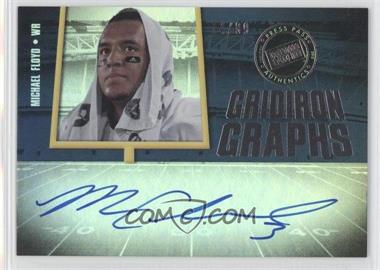 2012 Press Pass Fanfare - Gridiron Graphs - Silver #GG-MF - Michael Floyd /99