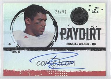 2012 Press Pass Fanfare - Paydirt - Silver #PD-RW - Russell Wilson /99