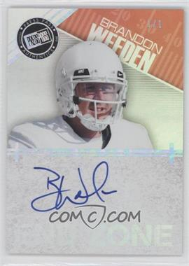 2012 Press Pass Showcase - End Zone Autographs - Melting #EZ-BW - Brandon Weeden /1