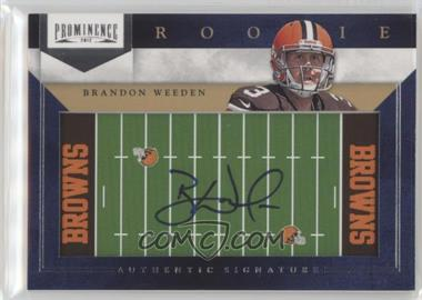 2012 Prominence - Rookie Signatures - Field Plates #223 - Brandon Weeden /90