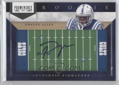 2012 Prominence - Rookie Signatures - Field Plates #247 - Dwayne Allen /200