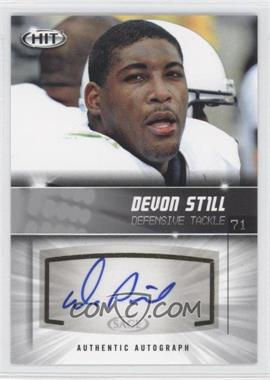 2012 SAGE Hit - Autographs - Silver #A39 - Devon Still