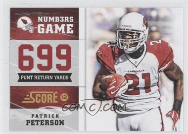 2012 Score - Numbers Game #15 - Patrick Peterson