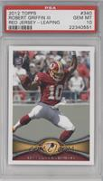 Robert Griffin III (Short Print: Leaping) [PSA 10]