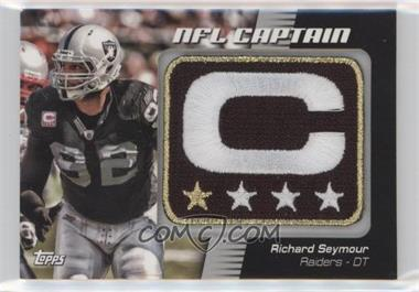 2012 Topps - NFL Captain's Patch #NCP-RS - Richard Seymour