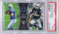 Andrew Luck, Jim Plunkett [PSA 9 MINT]