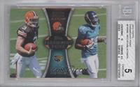 Brandon Weeden, Justin Blackmon [BGS 5 EXCELLENT]