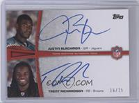 Justin Blackmon, Trent Richardson #/25