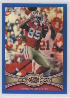 2012 Topps Chrome - [Base] - Blue Refractor #24 - Vernon Davis /199