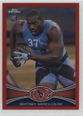 2012 Topps Chrome - [Base] - Red Refractor #111 - Whitney Mercilus /25