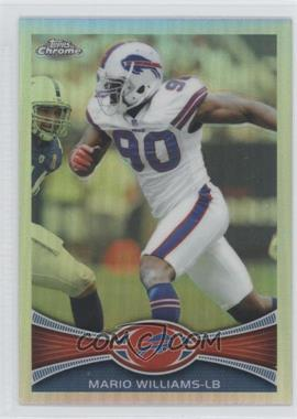 2012 Topps Chrome - [Base] - Refractor #181 - Mario Williams