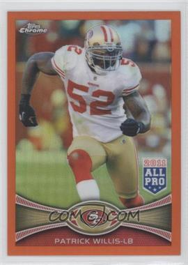 2012 Topps Chrome - [Base] - Retail Orange Refractor #80 - Patrick Willis