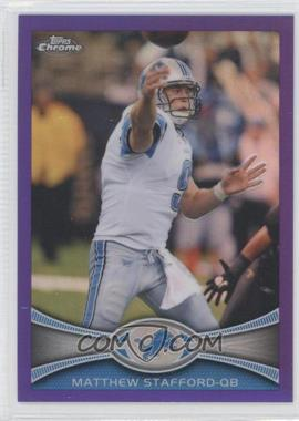 2012 Topps Chrome - [Base] - Retail Purple Refractor #126 - Matthew Stafford /499