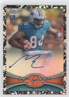 2012 Topps Chrome - Rookie Autographs - Military Refractor [Autographed] #2 - Michael Egnew /105