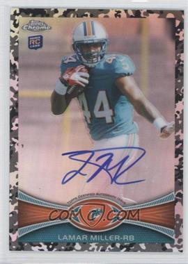 2012 Topps Chrome - Rookie Autographs - Military Refractor [Autographed] #38 - Lamar Miller /105