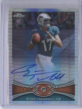 2012 Topps Chrome - Rookie Autographs - Prism Refractor [Autographed] #109 - Ryan Tannehill /50