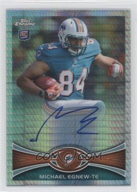 2012 Topps Chrome - Rookie Autographs - Prism Refractor [Autographed] #2 - Michael Egnew /50
