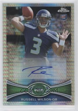 2012 Topps Chrome - Rookie Autographs - Prism Refractor [Autographed] #40 - Russell Wilson /50