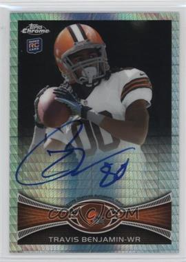 2012 Topps Chrome - Rookie Autographs - Prism Refractor [Autographed] #43 - Travis Benjamin /50