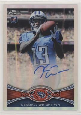 2012 Topps Chrome Rookie Autographs - [Base] - Refractor #212 - Kendall Wright /178