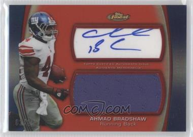 2012 Topps Finest - Autographed Jumbo Relic - Red Refractor [Autographed] #AJR-AB - Ahmad Bradshaw /25