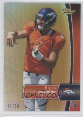 2012 Topps Finest - [Base] - Gold Refractor #101 - Brock Osweiler /50