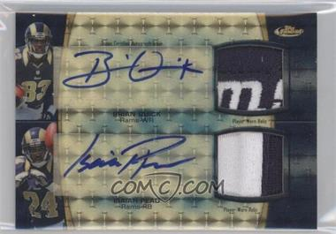 2012 Topps Finest - Dual Autograph Dual Relic - Superfractor Dual Patch [Autographed] #DADR-QP - Brian Quick, Isaiah Pead /1