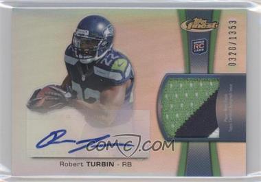 2012 Topps Finest - Rookie Autographed Patch - [Autographed] #RAP-RTU - Robert Turbin /1353
