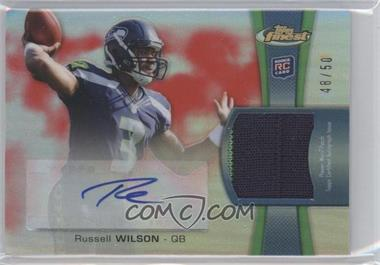 2012 Topps Finest - Rookie Autographed Patch - Red Refractor [Autographed] #RAP-RW - Russell Wilson /50