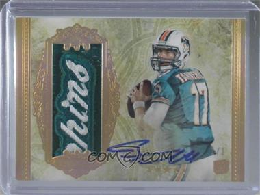 2012 Topps Five Star - [Base] - Five Star Jumbo Patch Autographs #151 - Ryan Tannehill /1