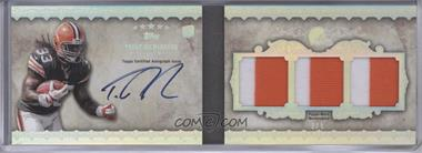 2012 Topps Five Star - Futures Autographed Three-Piece Memorabilia Book - Rainbow Patch #FSFA3-TR - Trent Richardson /5