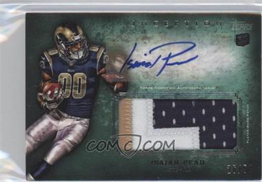 2012 Topps Inception - Rookie Autographed Jumbo Patch - Green Patch [Autographed] #AJP-IP - Isaiah Pead /50