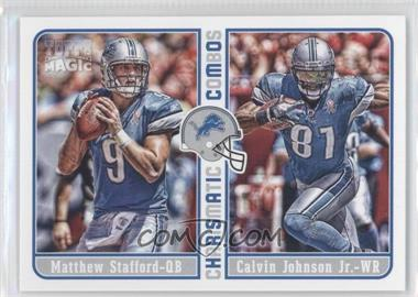 2012 Topps Magic - Charismatic Combos #CC-SJ - Matthew Stafford, Calvin Johnson