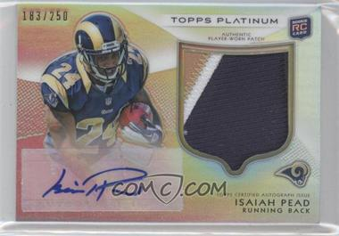 2012 Topps Platinum - Autographed Rookie Refractor Patch #109 - Isaiah Pead /250